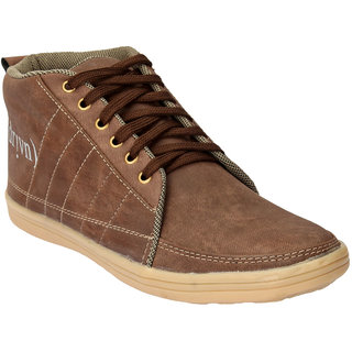 Drivn Brown Ankle Length Casual Shoes