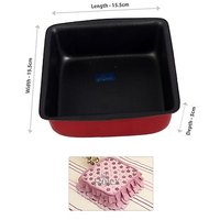 Rolex Non Stick Cake Pan Mould Square S1 250-500 Gms Cake