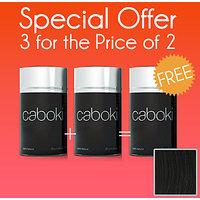 Hair Building Fibers 25 Grams(  Pack Of 3) Buy 2 Get 1 Free Colour Black