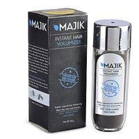 Majik Hair Building Fiber Natural Black 36G With Free Bonding Spray,Hair Shiner And Optimizer Comb