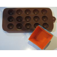 Combo Offer [ Silicon Chocolate Moulds + 6pcs Cup Cake Moulds]