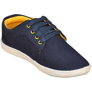 Jollify Mens Black And Yellow Casual Shoes