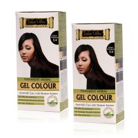 Indus Valley Permanent Herbal Hair Colour Copper Mahogany 5.4 Kit (Set Of 2)