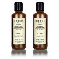 Khadi Natural Herbal Henna Tulsi Extra Conditioning Shampoo- Sls & Paraben Free