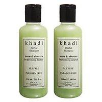 Khadi Natural Neem & Aloevera Herbal Shampoo- Sls & Paraben Free - 210ml (Set Of