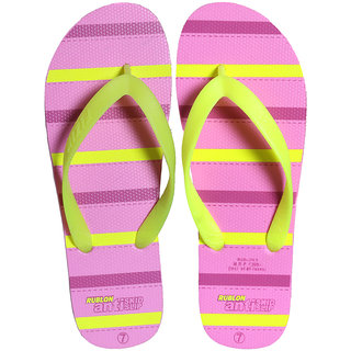FIZIK Women's Flip Flop Pink-Yellow (Rublon-5)
