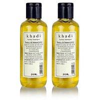 Khadi Natural Herbal Shampoo With Honey & Lemon Juice - 210ml (Set Of 2)