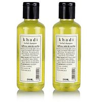 Khadi Natural Saffrron, Tulsi & Reetha Shampoo - 210ml (Set Of 2)