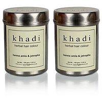 Khadi Natural Herbal Henna, Amla & Jatropha - 150g (Set Of 2)