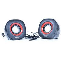 Ubon Usb Speakers 2 Computer Speakers Black & Red