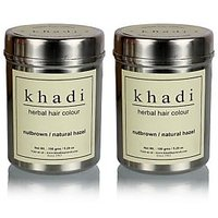 Khadi Natural Herbal Nut Brown Henna- Natural Hazel - 150g (Set Of 2)
