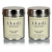 Khadi Natural Herbal Natural Henna(Senna/Cassia) - 150g (Set Of 2)