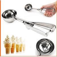 Stainless Steel Ice Cream Scoop Multi Use Food Spoon Kitchen Essentials - 79578590