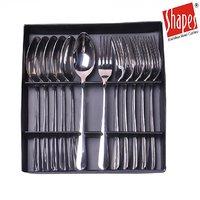 Shapes Rose Dinner Spoon And Forks Set 12 Pcs