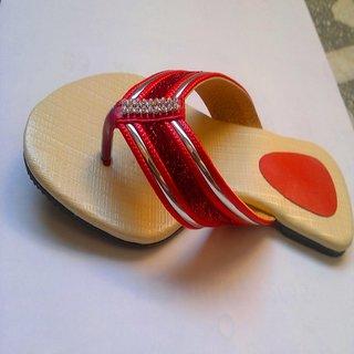 Flat  Strip Slippers Combo Plus  Three Peice And Three Colour  Three Desine