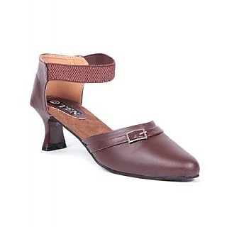 TEN Brown Women's Synthetic Leather Sandals