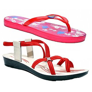 Combo Of Party Wear Floaters And Daily Wear Slippers