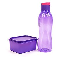 Tupperware Xtreme Set - Purple (750ml Flip Top Bottle + 500ml Keep Tab Small)