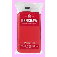 Renshaw Ruby Red Ready To Roll Icing Fondant 250 Gms