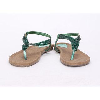 20degreef Women's Green Casual Flats