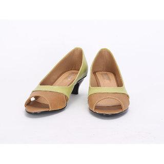 20degreef Women's Green Casual Heels