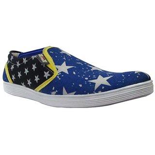 VLS-26 Men's Blue & Black Stylish Loafers