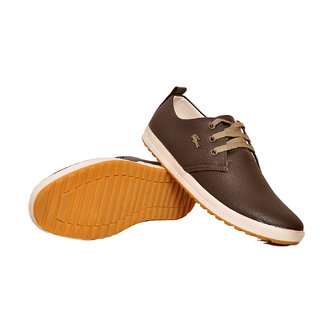 West Code Men's Synthetic Leather Casual Shoes 813-Brown