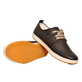 West Code Men's Synthetic Leather Casual Shoes 814-Black