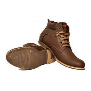 West Code Men's Synthetic Leather Casual Shoes 708-Brown