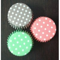 100Pcs -SMALL PAPER CASES LINERS BAKING MOLD CUP CAKE CUPS