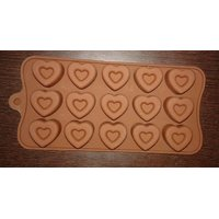 Heart Shape Silicone Chocolate Mould.