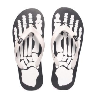 Wega Life SKELETON Black/White Flip Flops