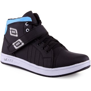 Shooz Men's Black & Blue Shoes