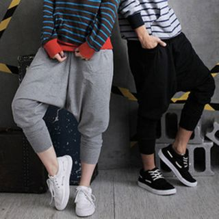 Light Gray Jogging Hip Hop  Drop Crotch Pant - Unisex Harm Jer - 001 [CLONE]
