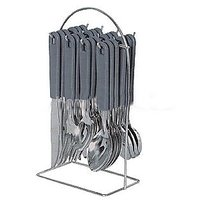 New 24 Pcs Cutlery Set With Steel Stand