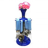 New 24 Pcs Cutlery Set With Flower Stand