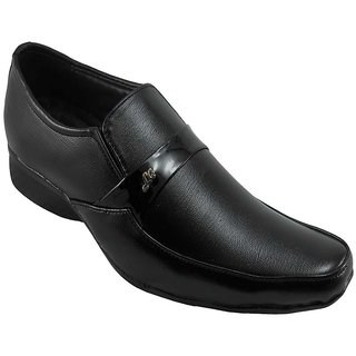 B3trendz Splendid Black Slip-on Formal Shoes For Men