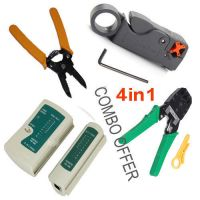 4 In 1 Networking Tool Kit Cable Tester, Crimping Tool, Cable Cu