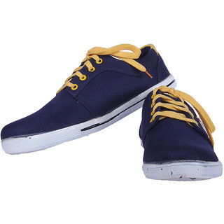 Austrich Black And Yellow Casual Shoes