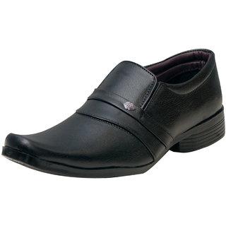 00RA Black Cobra Slip On Formal Shoes For Men