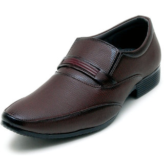 00RA Brown Kseries Slip On Formal Shoes For Men