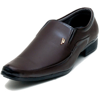 00RA Brown Kseries Pum Slip On Formal Shoes For Men