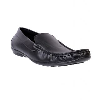 Nonch Le Winsome Black Leather Men Loafers