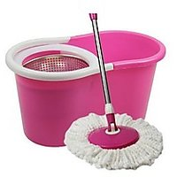 Easy Mop With Stainless Steel Dryer 360 Spin With 2 Refills