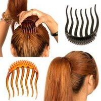 Black Inserts Hair Clip Bumpits Bouffant Ponytail Hair Bun Maker DIY Comb Hair