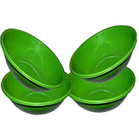 King International- Stainless Steel Serving Bowl Green Color/Pasta Bowl/Saled Bowl Set Of 4 Pcs