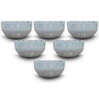 King International - Stainless Steel White Designer Bowl/Katoris Set Of 6Pcs