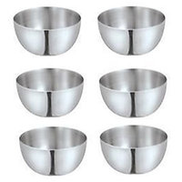 King-International -Stainless Steel Apple Bowls/Steel Katori Set Of 6 Pcs