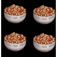 King International - Stainless Steel White Designer Bowl/Katoris Set Of 4 Pcs