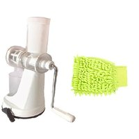 GANESH Juicer With Glossy Microfiber Hand Glove Duster